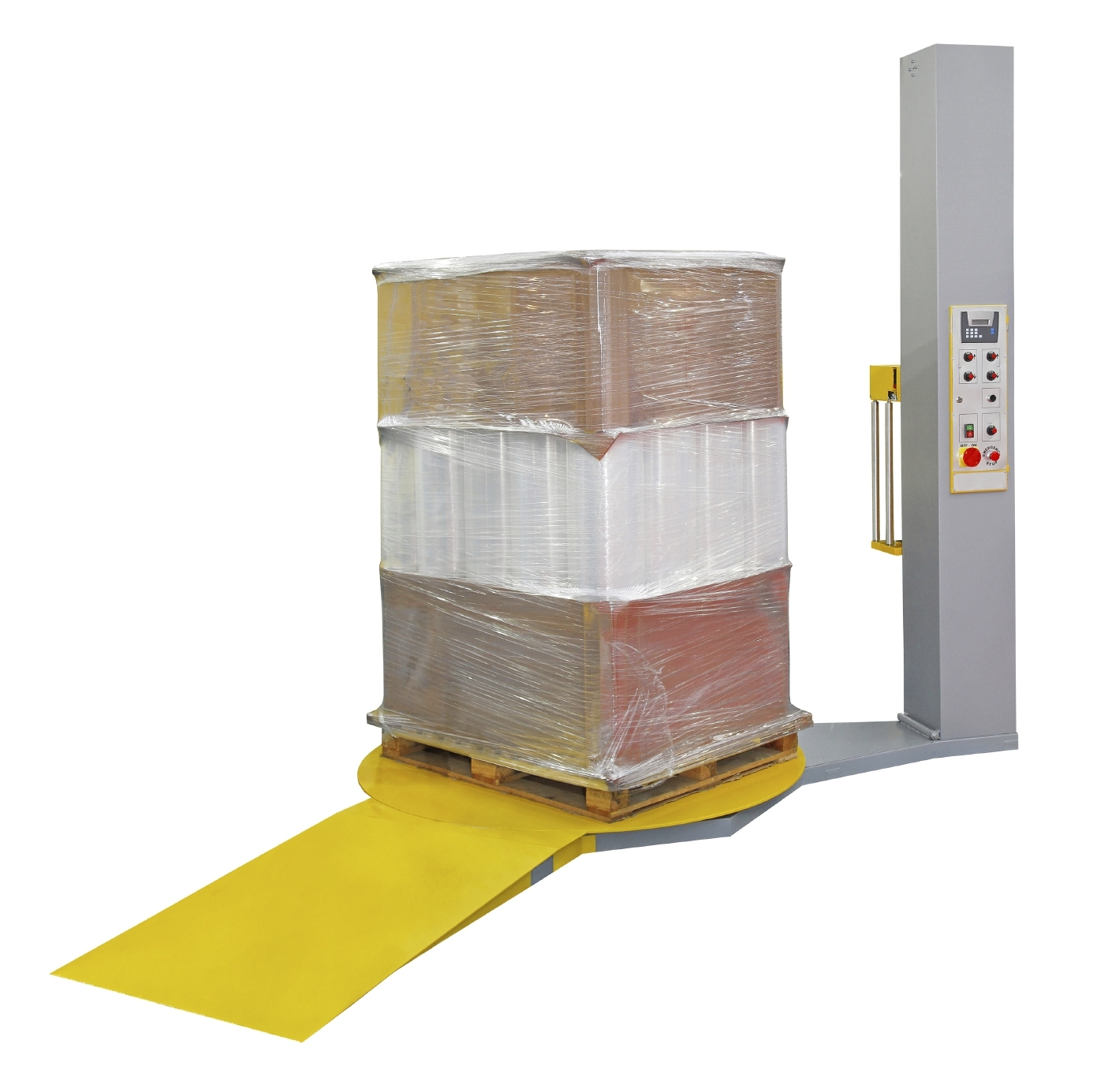 Stretch Wrapping Machinefor pallet protection during transport isolated